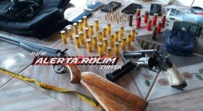 Operação Paz no Campo, PM apreende armas de fogo, drogas e várias munições