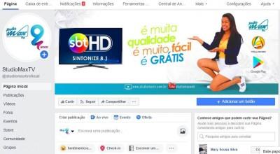"""Após página da StudioMaxTV ser """"hackeada"""" no Facebook nova página é lançada"""