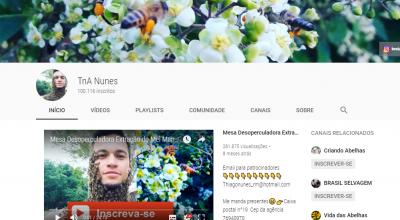 Jovem de Rolim de Moura chega aos 100 mil inscritos no YouTube com canal sobre Apicultura