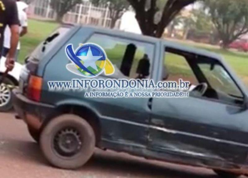 Rolim de Moura - Homem quebra carro após ser parado em blitz da Lei Seca