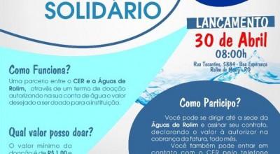 Rolimourenses podem contribuir com o CER na conta de água; entenda