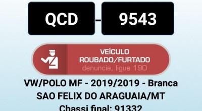 Viajante tem carro roubado por dupla armada entre Cacoal e Rolim de Moura