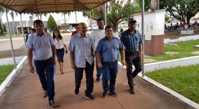 Fabrício Melo Recepciona senador Confúcio Moura na visita a Rolim