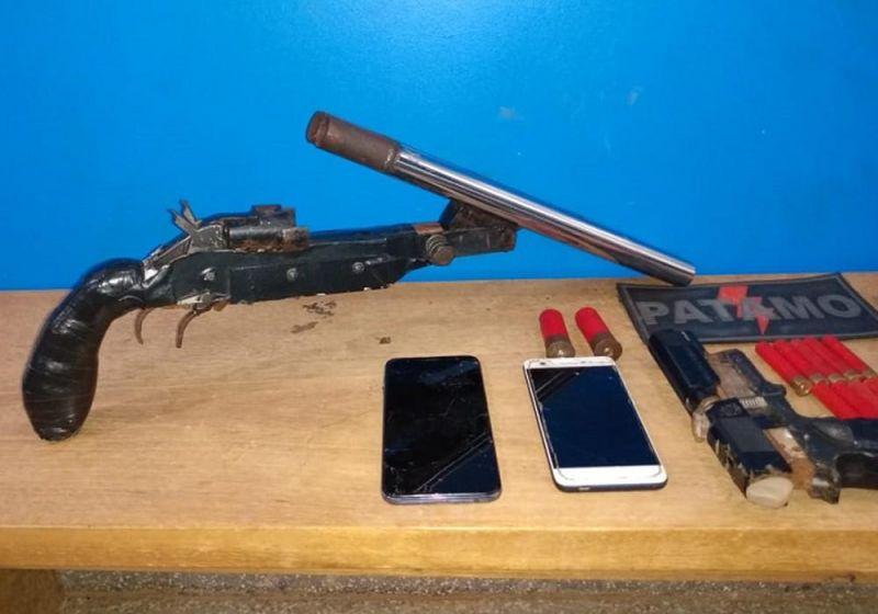 Jovens são presos com armas de fabricação artesanal em Vilhena, RO