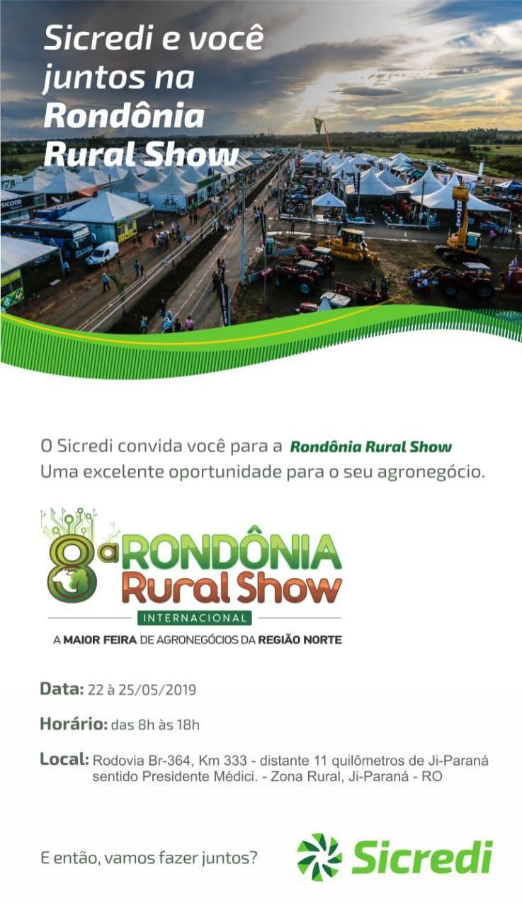 Sicredi estará na Rondônia Rural Show