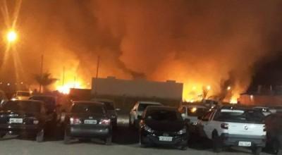 Incêndio próximo a faculdade mobilizou Corpo de Bombeiros, mas não deixou feridos em Vilhena