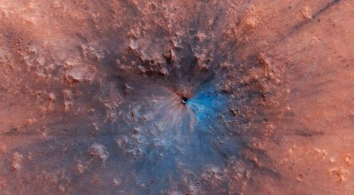 NASA fotografa cratera em Marte que surgiu entre 2016 e 2019