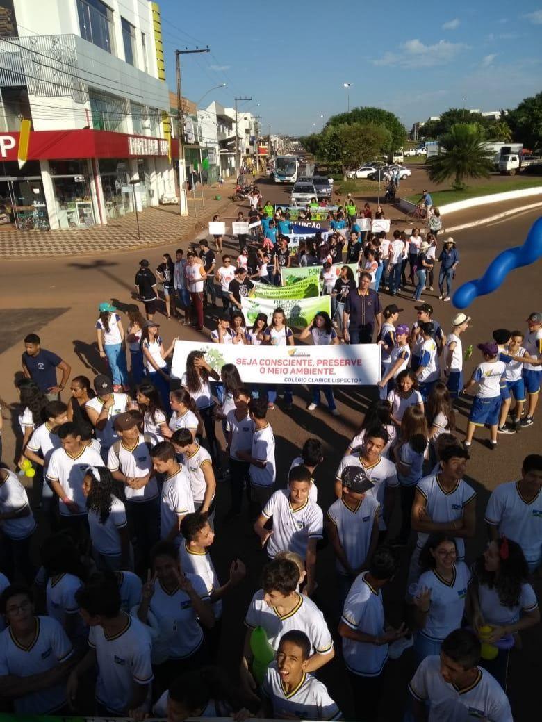Polícia Mirim de Rolim de Moura participa da caminhada pela preservação do Meio Ambiente