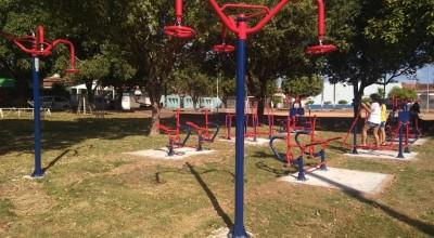 Prefeitura de Rolim de Moura inicia a instalação das Academias ao Ar Livre nos Bairros
