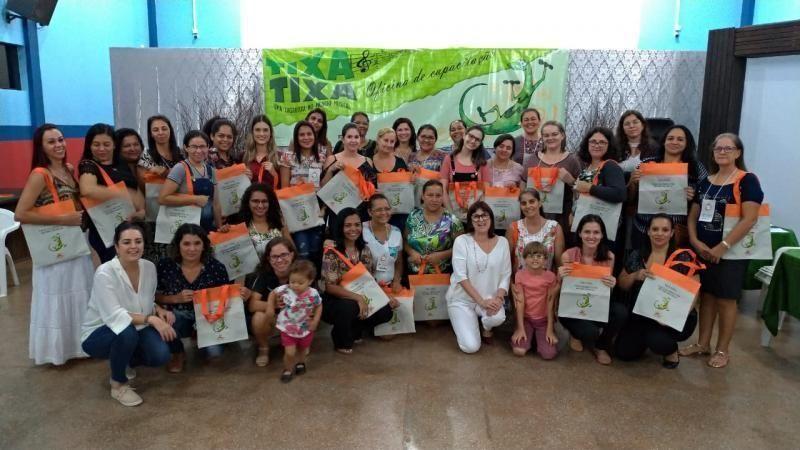 Rolim de Moura - Professores da Rede Municipal de Ensino participaram da capacitação do Projeto Musicalização Tixa e Quero brincar