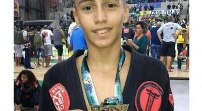 Com 13 anos, coloradense Tarcísio Felipetto é campeão mundial de Jiu-Jitsu no Rio de Janeiro