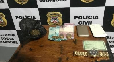 """Costa Marques: Polícia Civil Fecha """"Boca de Fumo"""""""