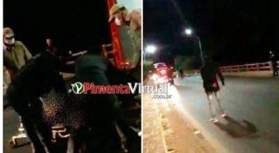 Policia Militar age rápido e salva mulher que ameaçava se jogar de ponte