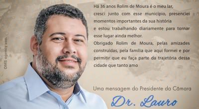 Aniversário de Rolim: Mensagem vereador Dr. Lauro Lopes