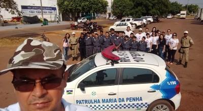 Polícia Mirim de Rolim de Moura contribui com a campanha SEMANA PELA PAZ EM CASA
