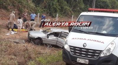 Rolim de Moura – Motorista perde o controle da direção e capota veículo na RO-479