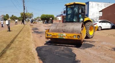 Rolim de Moura - Prefeitura intensifica operação tapa-buracos