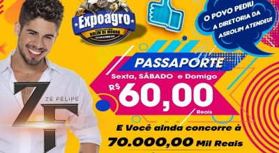Expoagro: Promoção no valor do passaporte para os 03 últimos dias