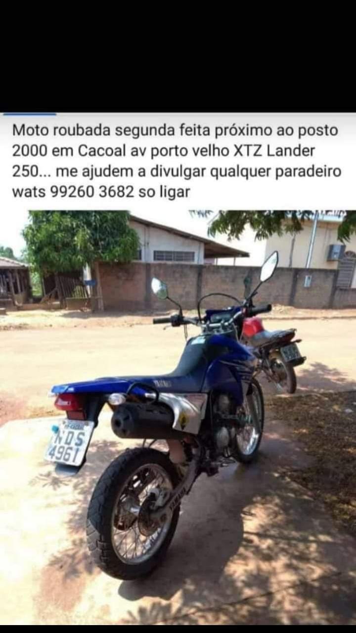 Motocicleta é roubada em Cacoal após proprietário cair em golpe
