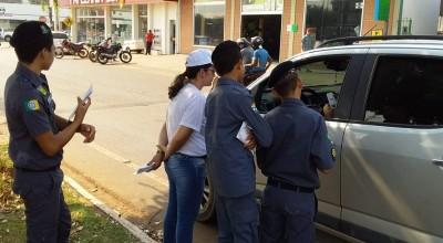 Polícia Mirim de Rolim de Moura, participam de atividades educativas de Trânsito, na abertura da Semana de Trânsito