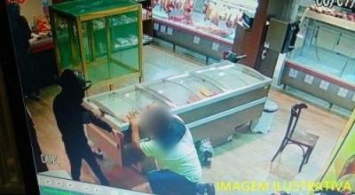 Rolim de Moura – criminosos efetuam roubo em casa de carne no Bairro Industrial