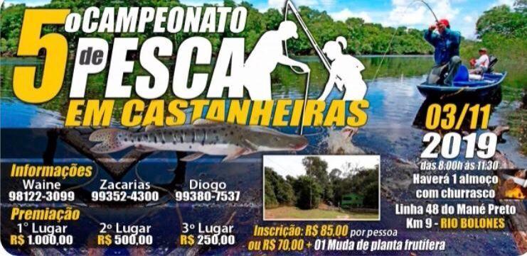 Castanheiras: 5º Campeonato de Pesca de Castanheiras será realizado em novembro