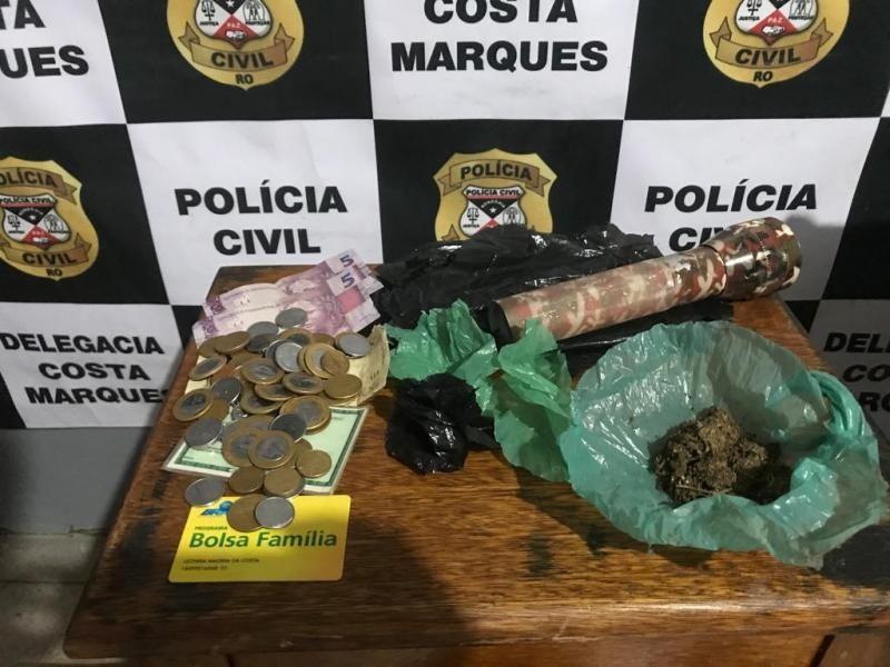 Costa Marques: Polícia Civil fecha mais uma boca de fumo