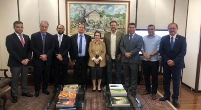 Presidente Laerte Gomes acompanha empresários de frigorífico no Ministério da Agricultura para garantir exportações