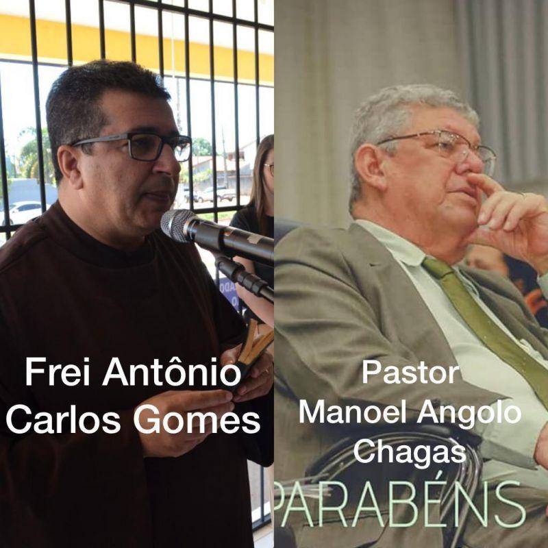 Rolim: Lideranças religiosas Frei Antonio Carlos e Pastor Manoel Chagas receberão homenagens da câmara