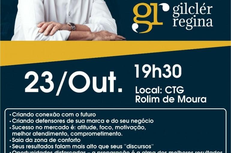 Rolim: Palestrante Gilclér Regina se apresenta nesta quarta-feira no CTG