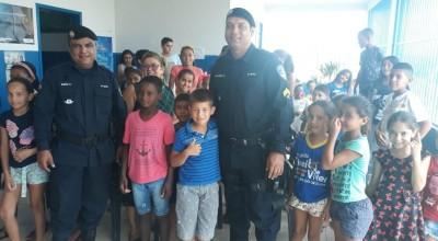SÃO FELIPE - CRIANÇAS ELEGEM A ATIVIDADE POLICIAL MILITAR COMO PROFISSÃO QUE ALMEJAM PRO FUTURO