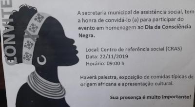 CONVITE: Homenagem ao Dia da Consciência Negra em Rolim de Moura