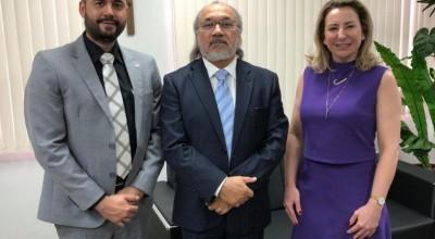 Jaqueline Cassol debate participação da mulher na política com o presidente do TRE Rondônia