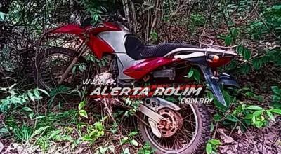 PM encontra moto na linha 180 em Rolim de Moura