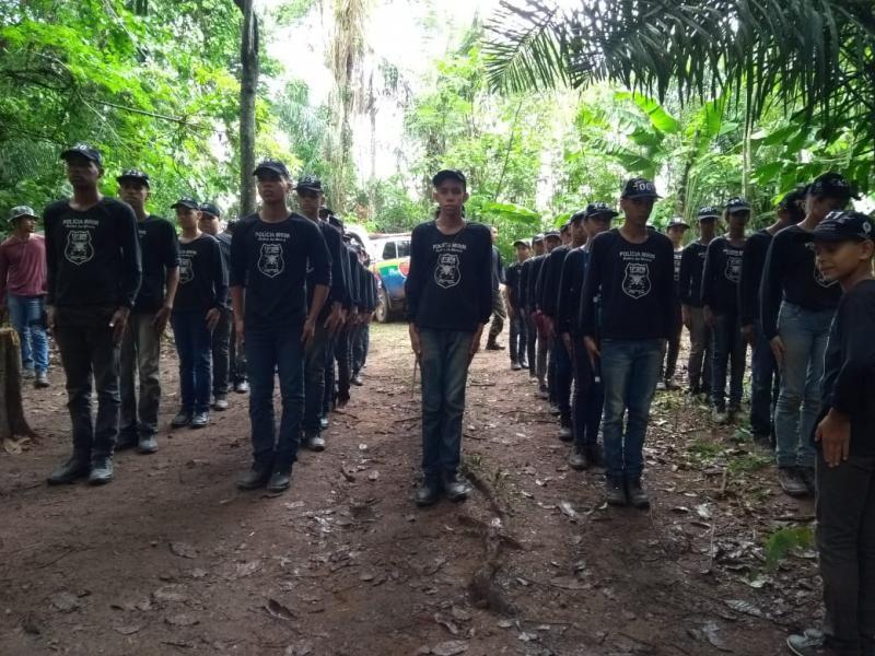 Rolim: 10° Batalhão da PM realiza mais um acampamento de selva com alunos da Polícia MIrim