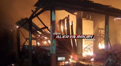Rolim de Moura – Urgente – Casa e carro são destruídos por incêndio no Bairro Nova Morada