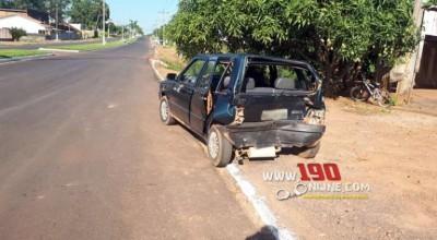 Alta Floresta – Caminhão guincho colide na traseira de Fiat Uno na Avenida Nilo Peçanha