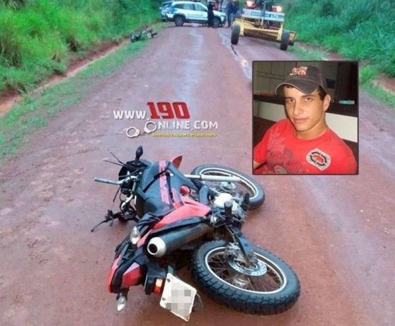 Alta Floresta – Motociclista morre após se chocar com moto e bater com a cabeça em lâmina de trator