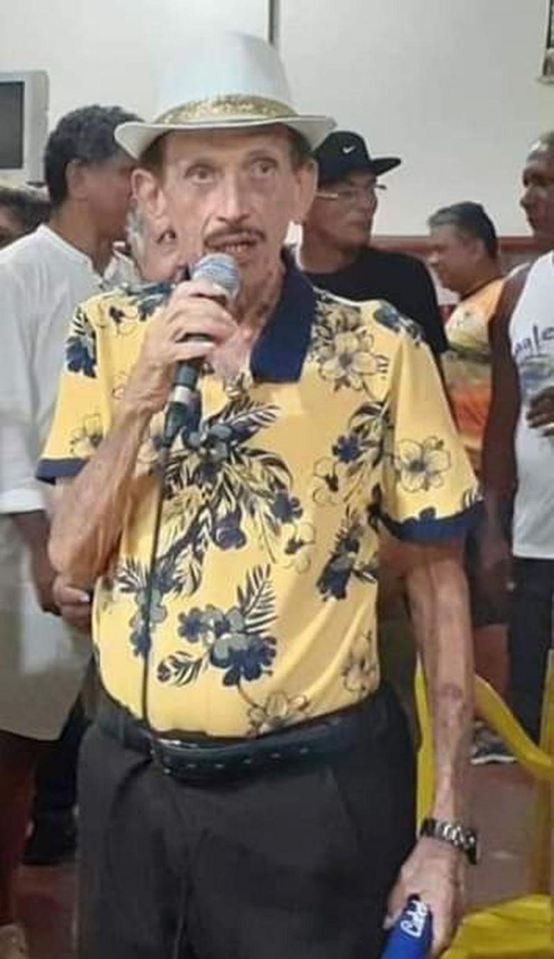 Cabeleira, fundador da escola de samba mais antiga de Porto Velho, morre aos 80 anos
