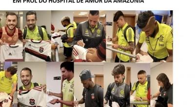 Camisa do Flamengo autografada pelo time campeão vai a leilão em Rondônia no domingo