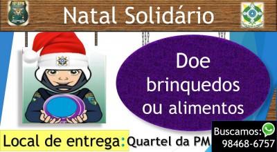 """Rolim: PM fará """"Natal Solidário"""". Clique aqui e saiba como participar"""