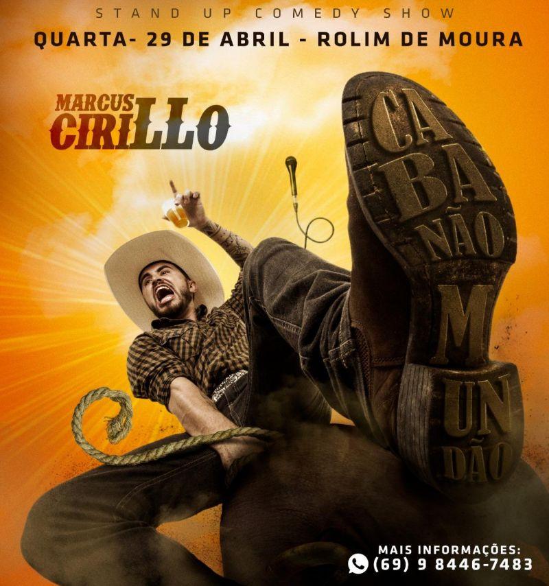 Anunciado apresentação do humorista Marcus Cirilo em Rolim