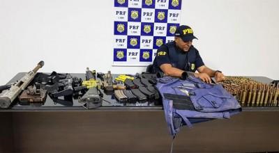 PRF apreende arsenal de guerra e prende dois em Ji-Paraná