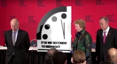 'Relógio do fim do mundo' avança em 2019 e está a 100 segundos do fim