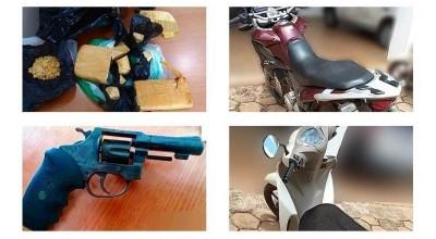 Rolim de Moura – Operação em conjunto entre PM e PC resulta na apreensão de drogas, arma de fogo, munições e veículo roubado