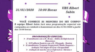 Rolim de Moura - UBS Albert Sabin realizará programação especial ao combate à hanseníase