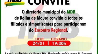 Rolim: MDB fará encontro nesta sexta-feira