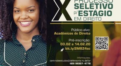 Rondônia: Defensoria Pública lança edital para processo seletivo de acadêmicos de Direito