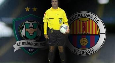 Fledes Rodrigues Santos será o árbitro do confronto União Cacoalense x Barcelona