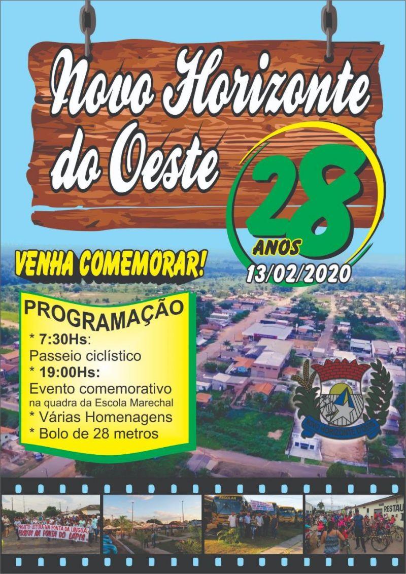 Novo Horizonte e mais 16 municípios de Rondônia fazem aniversário hoje